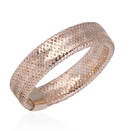 Italian Made - 9K Yellow Gold Stretchable Ring (Size Large) (Size P to U)