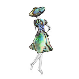 Abalone Shell (0.00 Ct) Brooch  0.001  Ct.