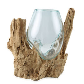 Jardin de Bali - Vase on Gamal Wood (Height 12/15Cm)