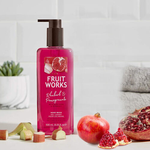 Fruit Works Rhubarb & Pomegranate 500ml Hand Wash