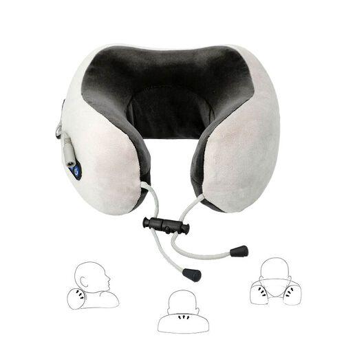 U-Shaped Neck Velvet and Memory Foam Massager (2x22.5x11cm) - Grey