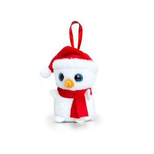 Red and White Colour Snowman by Keel Toy (Size 10 Cm)