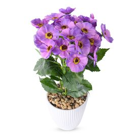 Summer Blooms - Realistic Effect Artificial Flower Pot - Purple Coreopsis