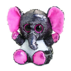 Keel Toys - Glitter Motsu - Silver and Grey Sequins Elephant