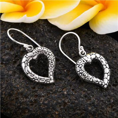 Royal Bali Collection - Sterling Silver Hook Earrings