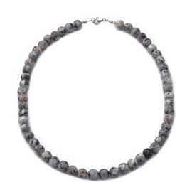 Dendritic Agate Beaded Necklace (Size 18) in Sterling Silver - 150 Carats