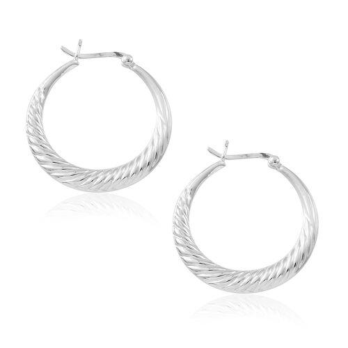 Thai Sterling Silver Hoop Earrings, Silver wt. 7.24 Gms.
