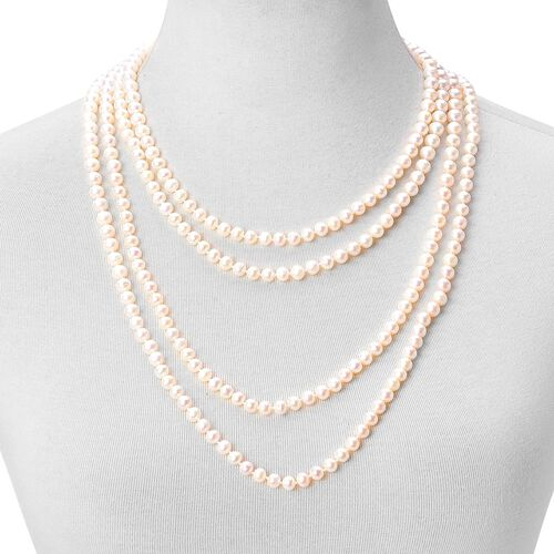 Fresh Water White Pearl Necklace (Size 100) 748.500 Ct.