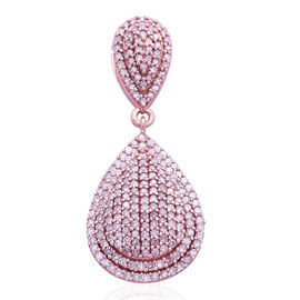 ILIANA 18K Rose Gold Natural Pink Diamond (Rnd) (SI) Tear Drop Pendant 1.000 Ct. Number of Diamond 218