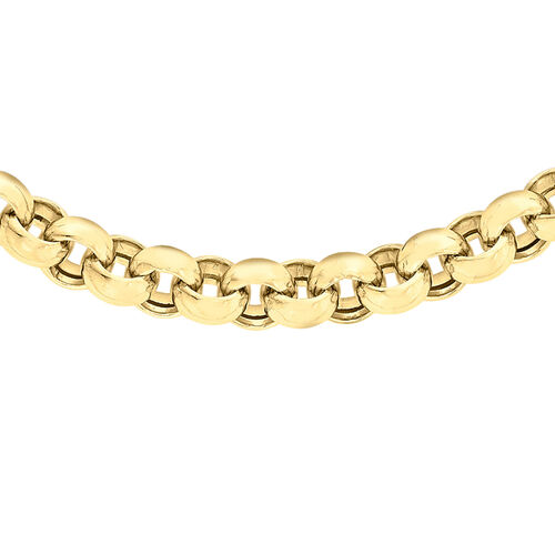 Close Out Deal Gold Belcher Necklace Size 17 in 9K Gold 17.50 Grams
