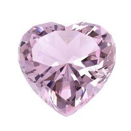 Home Decor - Kunzite Colour Heart Crystal (Size 8X7.8X5cm)