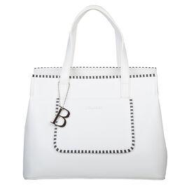 Bulaggi Collection - Zsazsa Shopping Bag with Zipper Closure in White (Size 30x23x14cm)