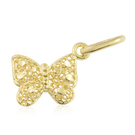 9K Yellow Gold Kids Butterfly Pendant