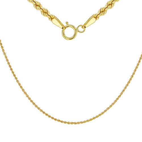 9K Yellow Gold Rope Chain (Size 20), Gold wt 2.10 Gms