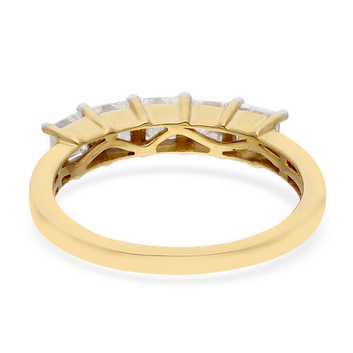 ILIANA 18K Yellow Gold IGI Certified Diamond (SI/G-H) 5-Stone Ring  1.00 Ct.