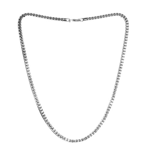 One Time Deal- Made in Italy Rhodium Overlay Sterling Silver Popcorn Necklace (Size 20), Silver wt 1
