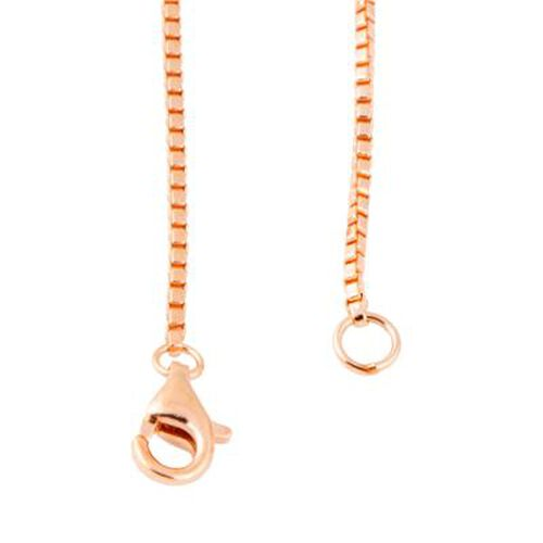 Rose Gold Overlay Sterling Silver Magnetic Adjustable Extender Clasp
