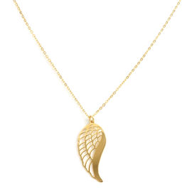 Italian Made - 9K Yellow Gold Angel Wing Necklace (Size 20)