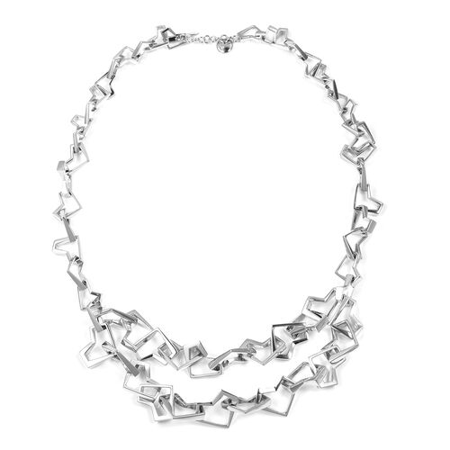 WEBEX- Rachel Galley Rhodium Plated Sterling Silver Necklace (Size 18), Silver wt 69.87 Gms.