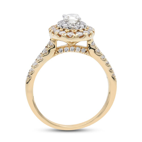 NY Close Out Deal- 14K Yellow Gold White Diamond (I1-I2/G-H) Ring 1.00 Ct, Gold wt. 4.00 Gms