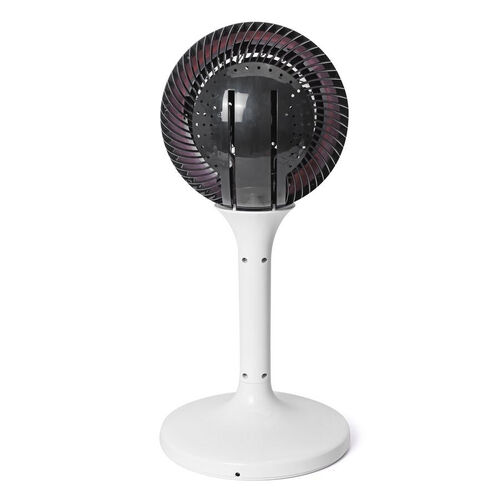 3D Oscillating Fan with Remote Control, With 12 Speed Settings - Colour: Black and White