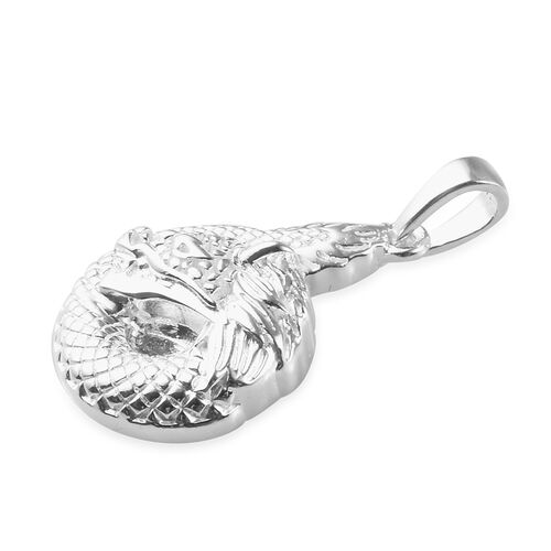 One Time Deal- Sterling Silver Dragon Pendant