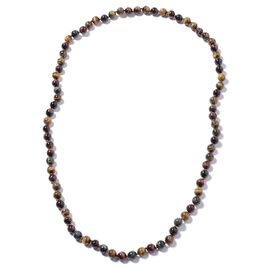 Multi Colour Tiger Eye (Rnd 9-11mm) Beads Necklace (Size 36)  612.00 Ct.