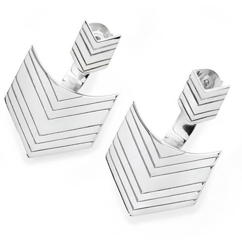 LucyQ Arrow Earrings (with Push Back) in Sterling Silver 12.00 Gms.