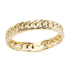 One Time Close Out Deal - 9K Yellow Gold Curb Band Ring