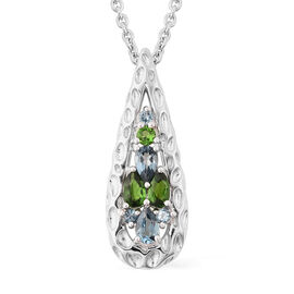 RACHEL GALLEY Misto Collection - AA London Blue Topaz and Russian Diopside Pendant With Chain (Size