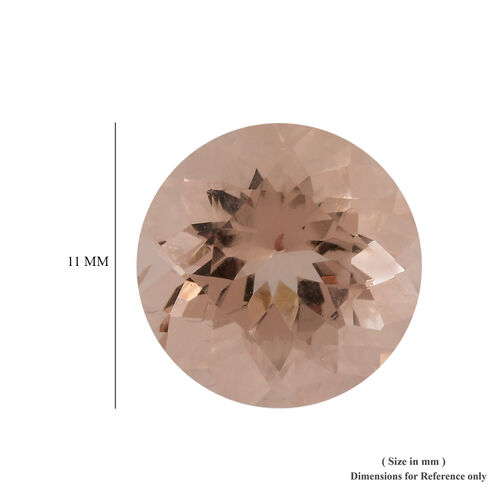 AAA Morganite Round 11 Faceted 4.36 Cts