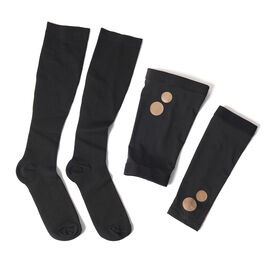 Set of 3 - Copper Fit Socks (Size L/XL), Copper Knee Sleeve (Size XL), Copper Elbow Sleeve (Size XL)