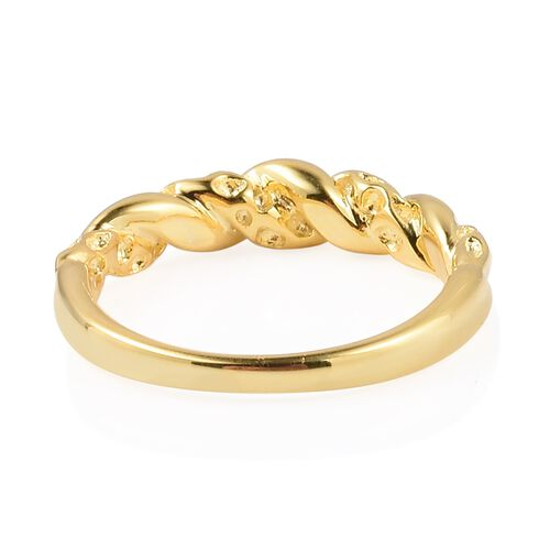 RACHEL GALLEY Yellow Gold Overlay Sterling Silver Twisted Ring