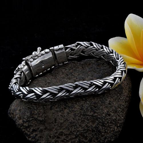 Royal Bali Collection Sterling Silver Snake Bone Bracelet (Size 7.5), Silver wt 63.16 Gms.