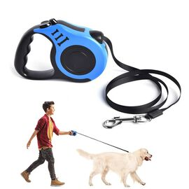 Retractable Dog Leash - Blue (Rope Length: about 5m) (Size 10.5x3x23cm)