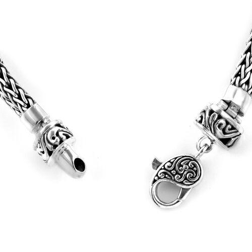 Bali Legacy Collection Sterling Silver Tulang Naga Bracelet (Size 7.75), Silver wt 23.63 Gms.