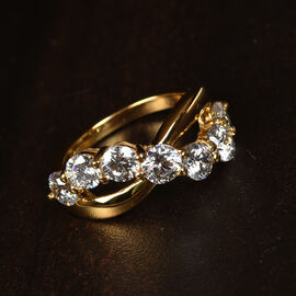J Francis Made with SWAROVSKI ZIRCONIA Ring in Gold Plated Sterling Silver
