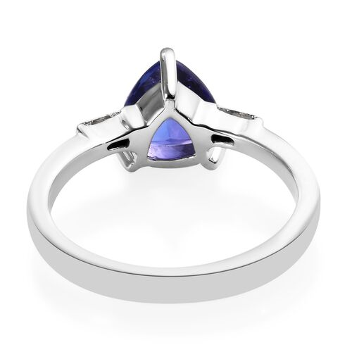 RHAPSODY 950 Platinum AAAA Tanzanite (Trl 7.5 mm 1.65 Ct), Diamond (VS- EF) Ring 1.75 Ct, Platinum wt 5.00 Gms.