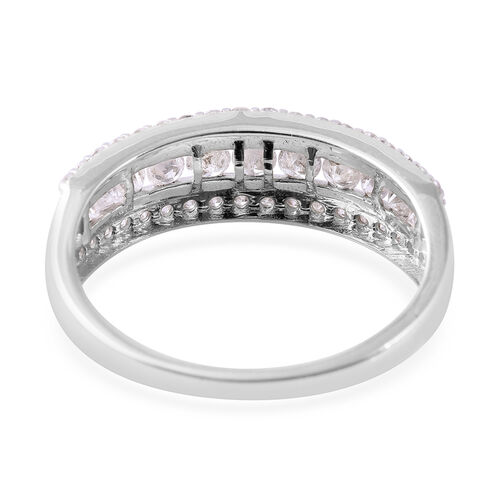 9K White Gold SGL Certified Diamond (Rnd) (I3/G-H) Band Ring 1.000 Ct.