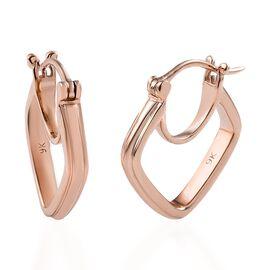 Super Auction- Designer Inspired 9K Rose Gold Hoop Earrings.Gold Wt 4.00 Gms