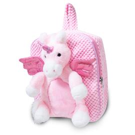 Plush Unicorn Backpack - Pink
