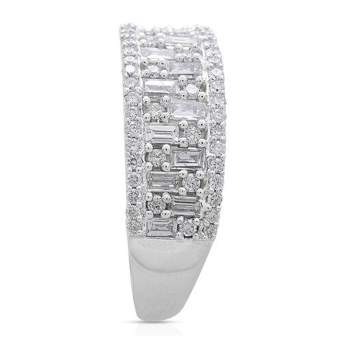 ILIANA 18K White Gold IGI Certified Diamond (Bgt) (SI/G-H) Ring 1.000 Ct.