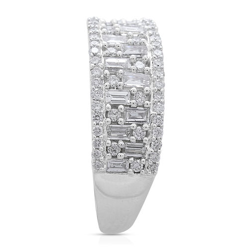 ILIANA 18K White Gold IGI Certified Diamond (Bgt) (SI/G-H) Ring 1.000 Ct.