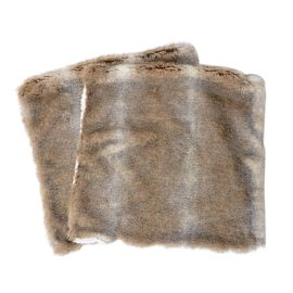 2 Piece Set - One Side Faux Fur and One Side Sherpa Cushion Cover (Size 45.72x45.72 Cm)