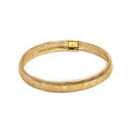Italian Made 9K Yellow Gold Stretchable Mesh Bracelet (Size 7-10)