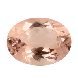 AAAA IGI Certified Morganite Faceted Oval 16x12.03mm (Depth - 7.68mm) 8.78 Ct.