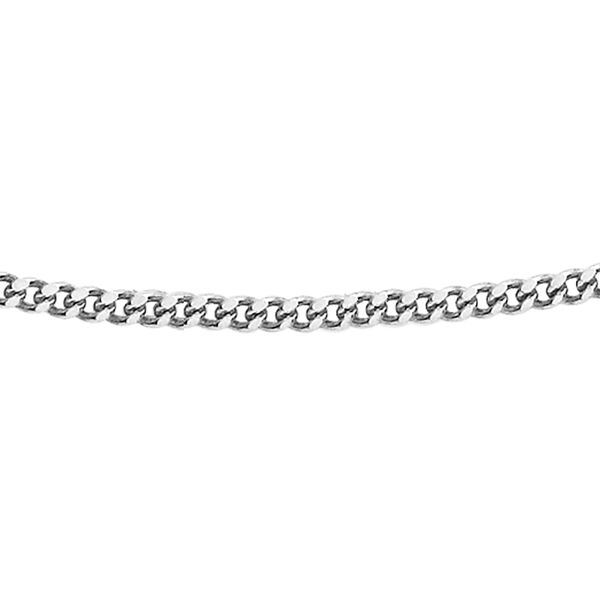 Sterling Silver Panza Curb Chain (Size 18) with Spring Ring Clasp