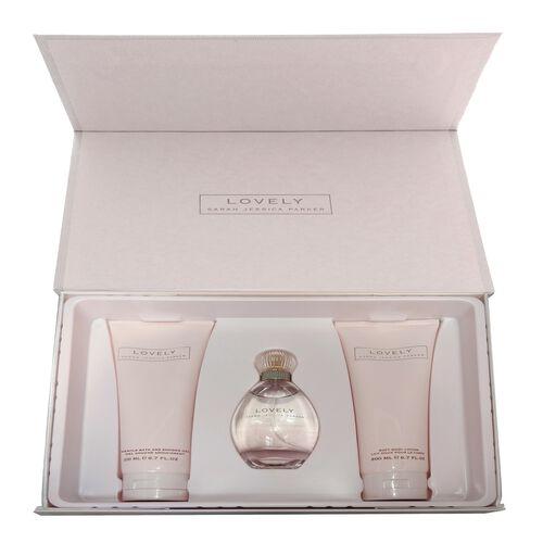 SJP Lovely 100ml SJP Lovely EDP Gift Set with 200ml Body Lotion and 200ml Shower Gel