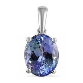RHAPSODY 950 Platinum Peacock Tanzanite (Ovl 10x8mm) Pendant 3.00 Ct.