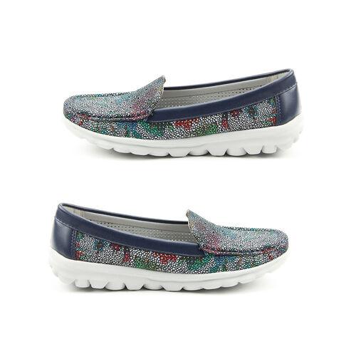Heavenly Feet Sunflower Slip On Loafer in Navy (Size 8)
